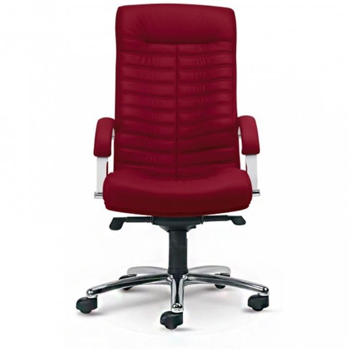 Директорски стол Orion Steel Chorme, eстествена кожa, бордо image