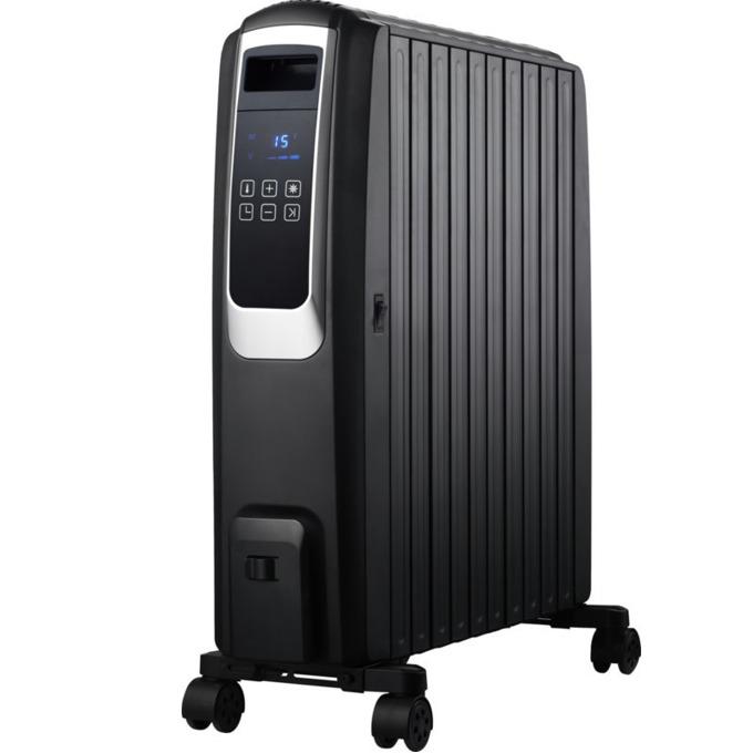 Mаслен радиатор FR-1025T BL, Защита срещу прегряване, LED дисплей, С дистанционно управление, 2500W, черен image