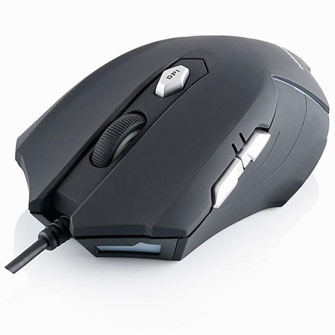 Мишка Modecom MC-MX оптична (2400 dpi), USB, черна, 7 бутона image