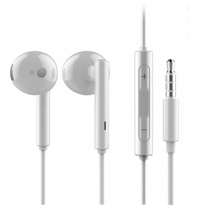 Слушалки Huawei Stereo Headset AM115, микрофон, оригинални, бели, bulk image