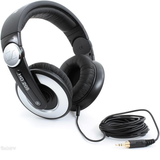 Слушалки Sennheiser HD 205, калъф, черни/сиви image