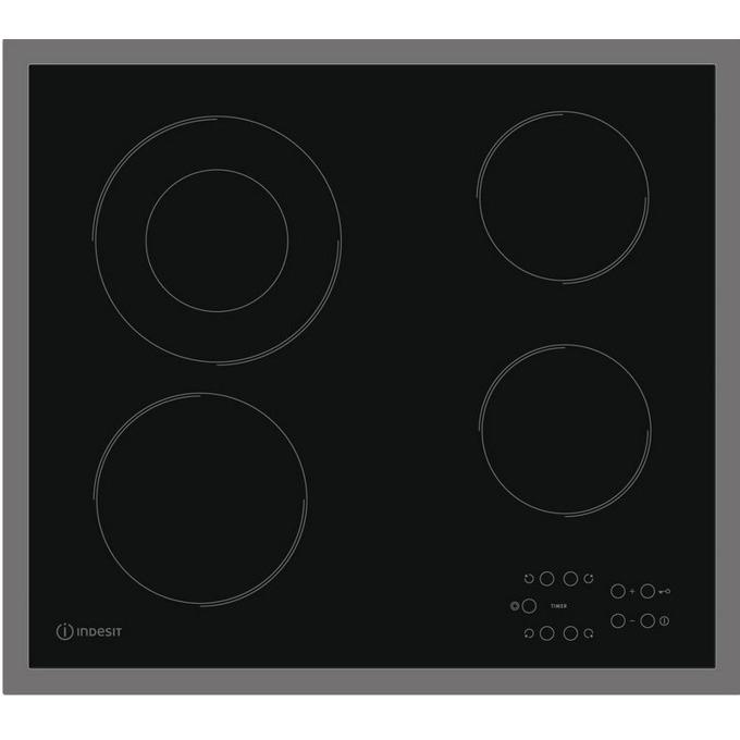 Вграден керамичен плот Indesit RI 261 X, 4 нагревателни зони, 1 двойна зона, сензорно управление, защита за деца, черен image