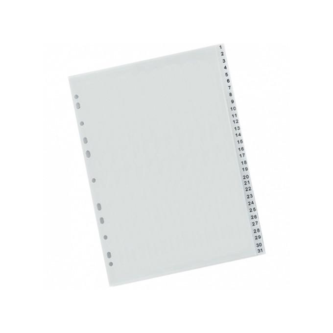 Разделител Exxo, за документи с формат до А4, с номерация от 1 до 31, бял image