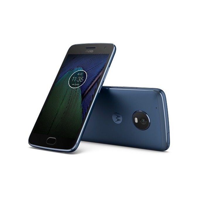 "Motorola Moto G5 Plus(син), 5.2"" (13.21 cm) Full HD дисплей, осемядрен Qualcomm Snapdragon 625 2.0 GHz, 2GB RAM, 32GB Flash памет(+microSD слот), 12 & 5 Mpix camera, Android 7.0, 155 g image"