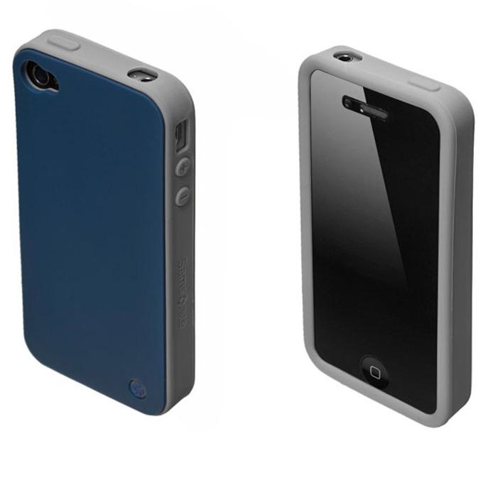 Страничен протектор с гръб Samsonite Bi-tone iPhone 4S, син/сив image
