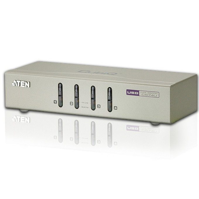 KVM Switch ATEN CS74U, 4x 1, USB, със звук image