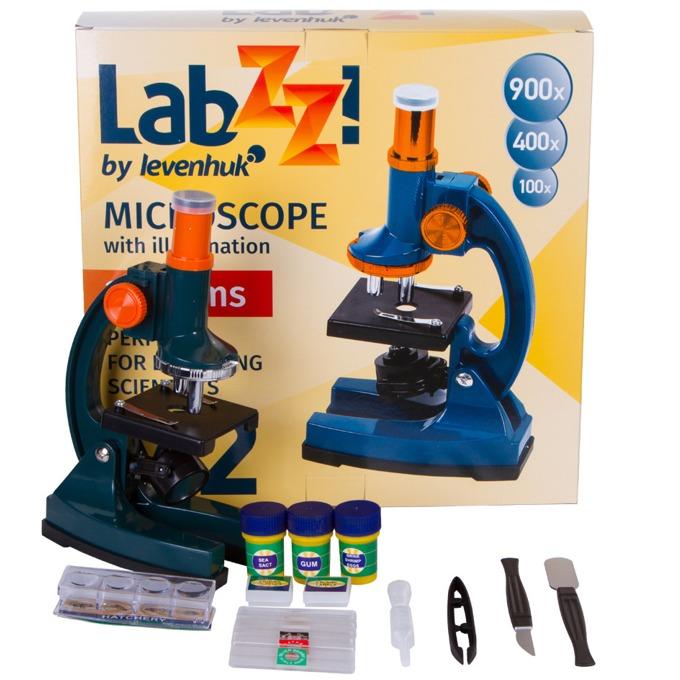 Микроскоп Levenhuk LabZZ M2, увеличение до 900x, набор за експерименти image