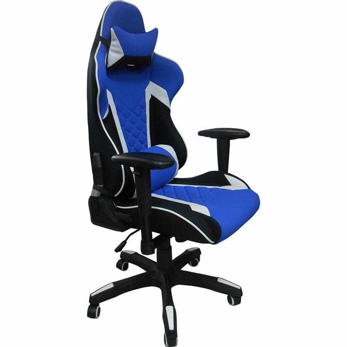 Геймърски стол Craft, еко кожа, ергономичните форми, черен/син image