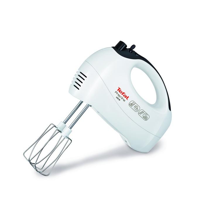 Миксер Tefal Prep'line HT411138 с пасатор, 450 W, 5 степени на работа, с турбо, бъркалки за тесто, бял image