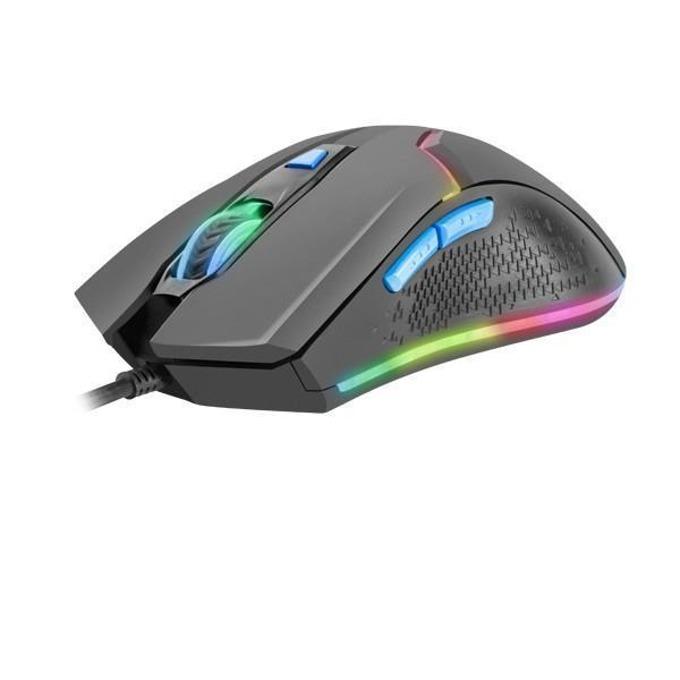 Мишка Fury NFU-0871, оптична (4800 dpi), гейминг, подсветка, черна, USB image