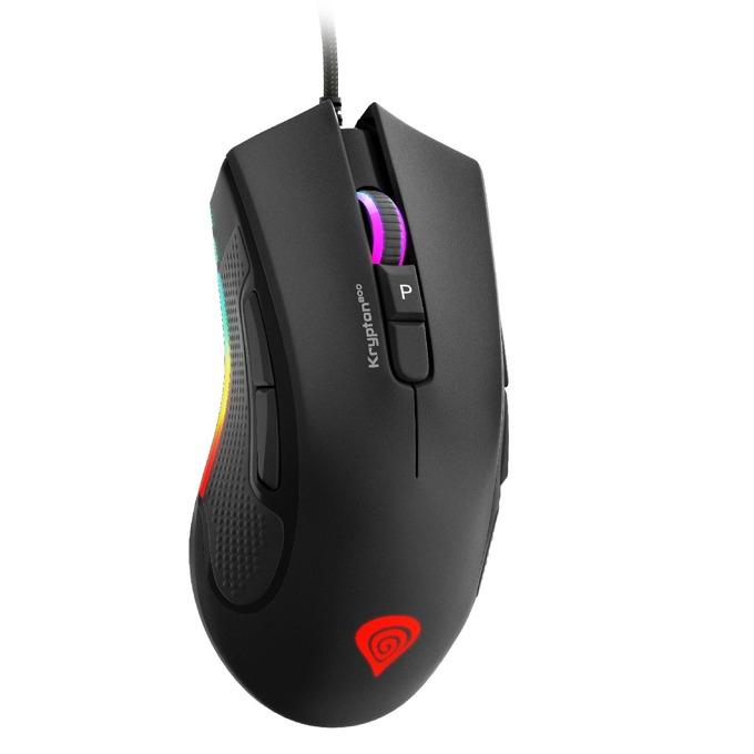 Мишка Genesis KRYPTON 800 RGB, оптична (10200 dpi), USB, геймърска, OMRON switches, подсветка, черна image