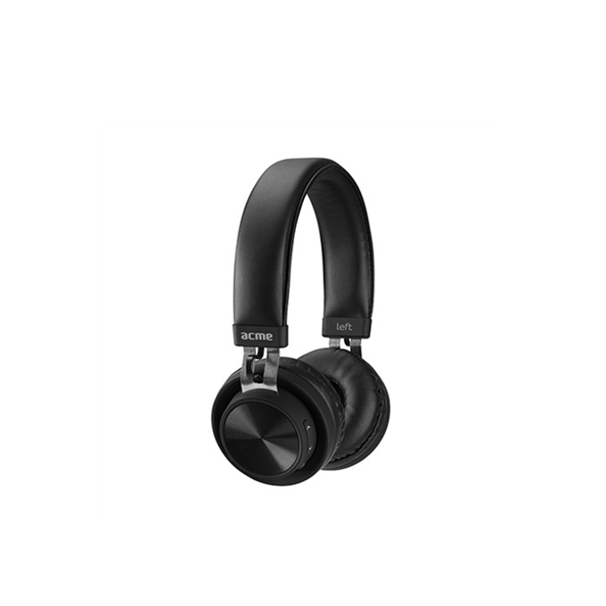 Слушалки Acme BH203, микрофон, Bluetooth, 3.5mm jack, до 11 часа възпроизвеждане, черни image