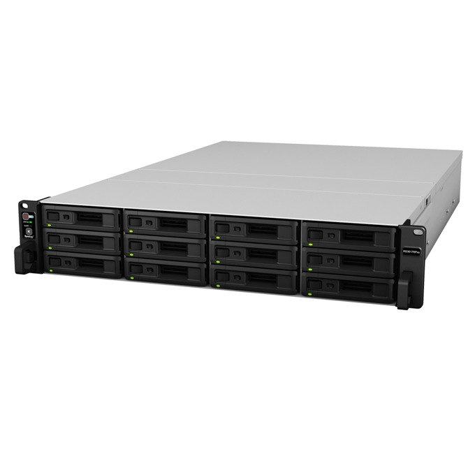 "Synology RackStation RS3617RPxs, Intel Xeon D-1521 2.4/2.7GHz, без твърд диск(12x SATA 2.5""/3.5""), 8GB DDR4 RAM, 4x RJ-45, 2x USB 3.0, 2x Expansion ports image"