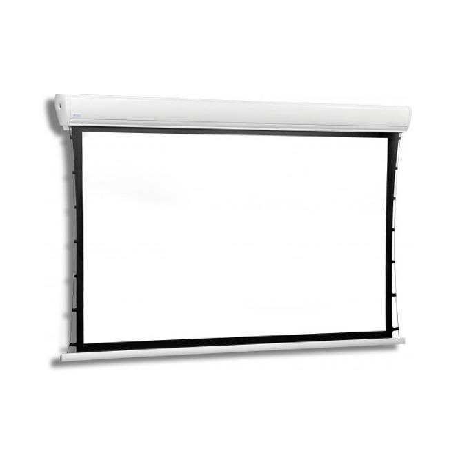 Екран Avers AKUSTRATUS 2 21-16 MG BB, електрически екран за стена/таван, Matt Grey, 2410 x 1680mm, 4:3, черна рамка image