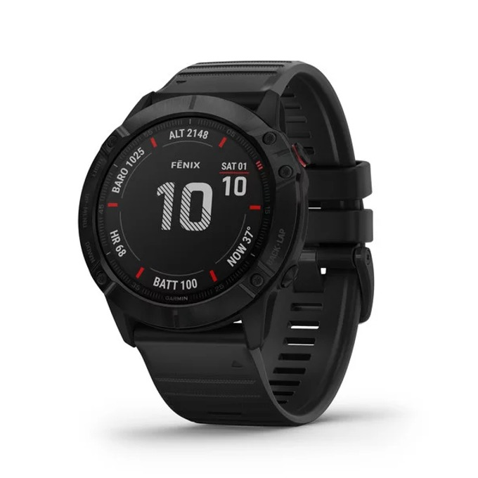 Смарт часовник Garmin fēnix 6X, 30.4 мм диаметър на дисплея, 32GB памет, водоустойчив(10 ATM), черен image