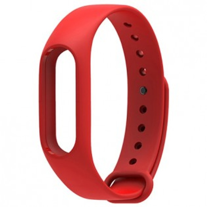 Силиконова гривна за Xiaomi Mi Band 2, само гривна, червена image