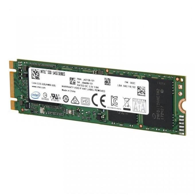Памет SSD 512GB Intel 545s, SATA 6Gb/s, M.2(2280), скорост на четене 550 Mb/s, скорост на запис 500 Мb/s image
