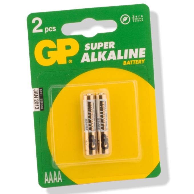 Батерии алкални GP Super АААА, 1.5V, 2 бр.  image