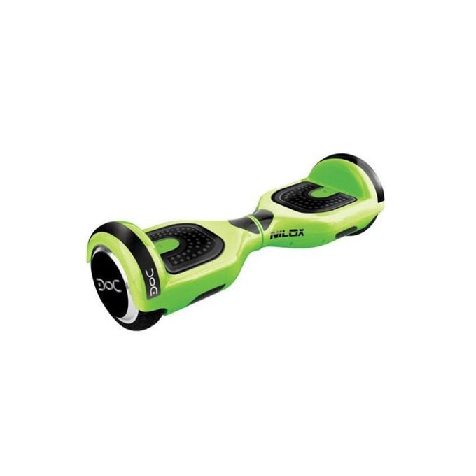 Ховърборд Nilox DOC Lime Green, до 10км/ч скорост, 20км макс. пробег, до 100кг, 2x 240W двигатели, зелен image