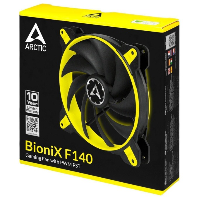 Вентилатор 120mm, Arctic BioniX F140 Yellow, 4-pin, 1800rpm image