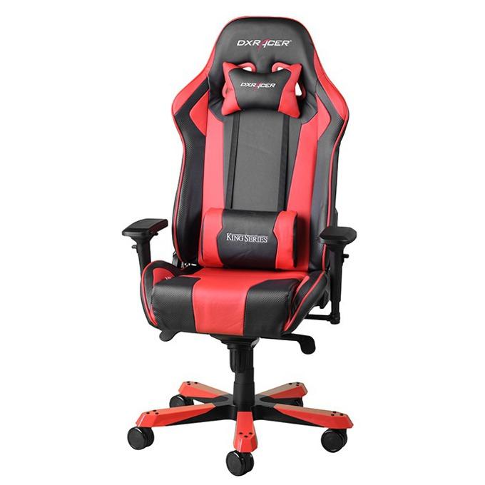 Геймърски стол DXRacer King OH/KF06/NR, черен/червен image