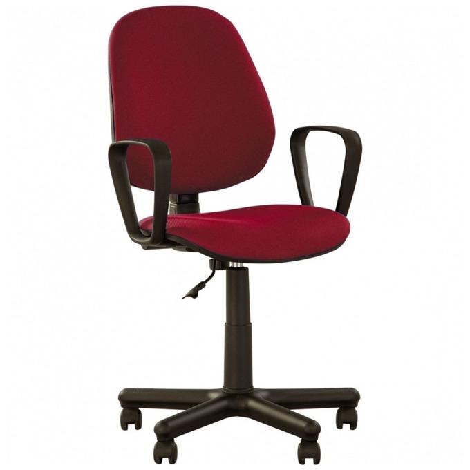 Стол Forex, с подлакътници, дамаска, метална петлъчева основа, червен image