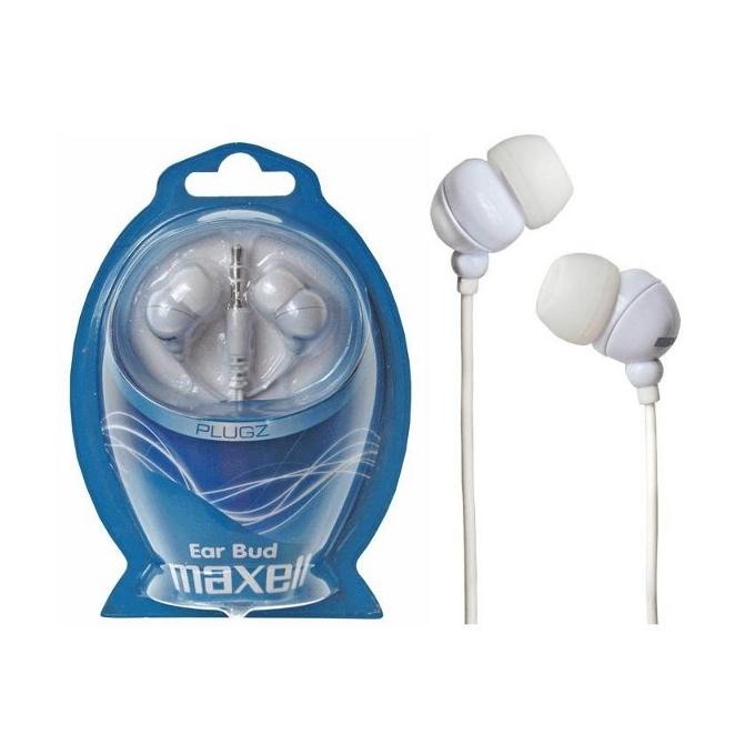 """Слушалки Maxell Ear Bud - Plugz (бели), тип """"тапи"""" image"""