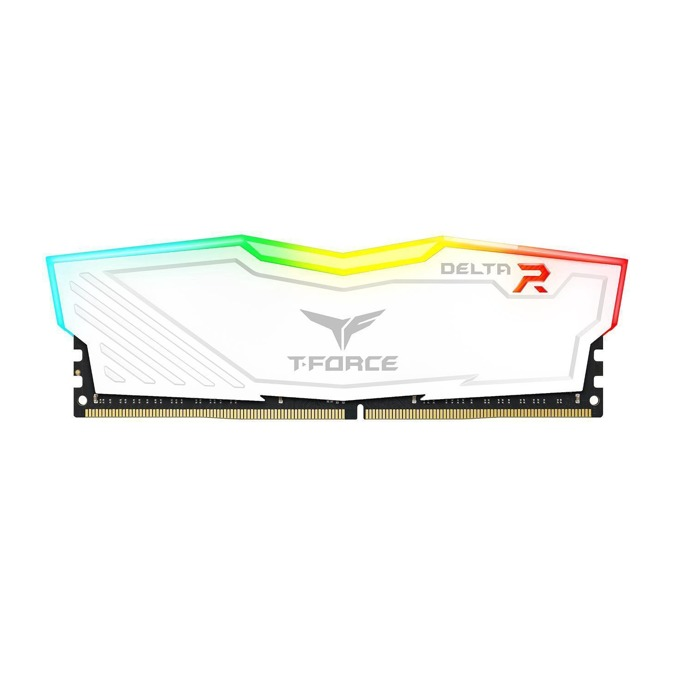 8GB DDR4 2400MHz, Team Group Delta RGB White, TF4D48G2400HC15B01, 1.2V, RGB програмируема подсветка, бял Heatspreader image