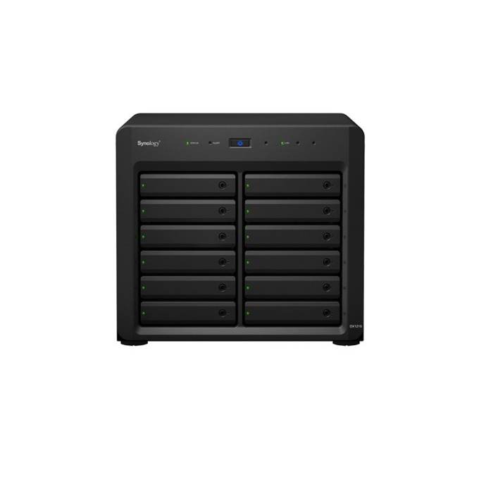 "Synology DX1215, Expansion unit, 12 bay, без твърд диск (SATA3 2.5""/3.5""), 1x Infiniband port DiskStation image"