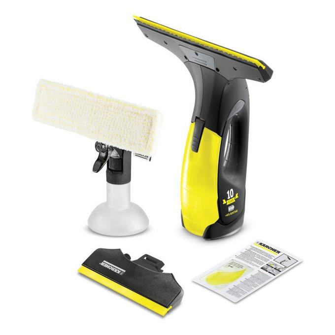Уред за почистване на прозорци Karcher WV 2 Premium, ръчна, 0.10 л. капацитет на резервоара, време на работа 20 мин., черен/жълт image