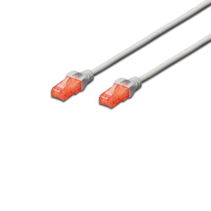 Patch cable Assmann, UTP, Cat.6, 1m, Сив image