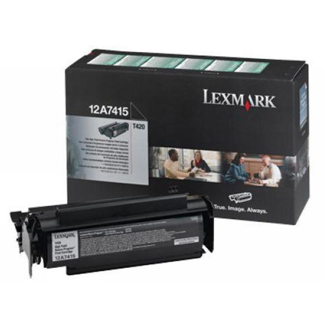 КАСЕТА ЗА LEXMARK OPTRA T 420 - Return program cartridge - P№ 12A7415 - заб.: 10000k image