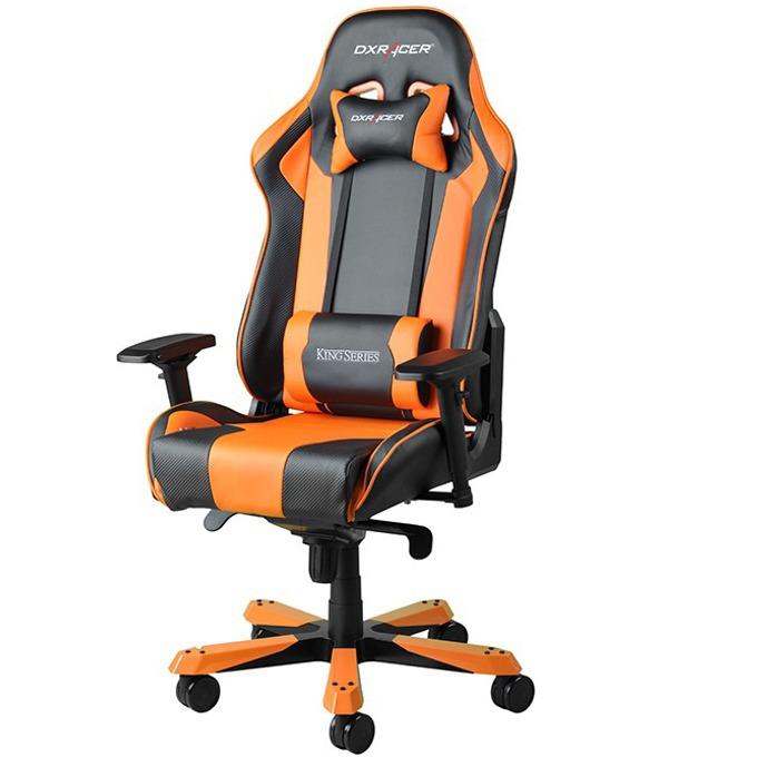 Геймърски стол DXRacer King OH/KF06/NO, черен/оранжев image