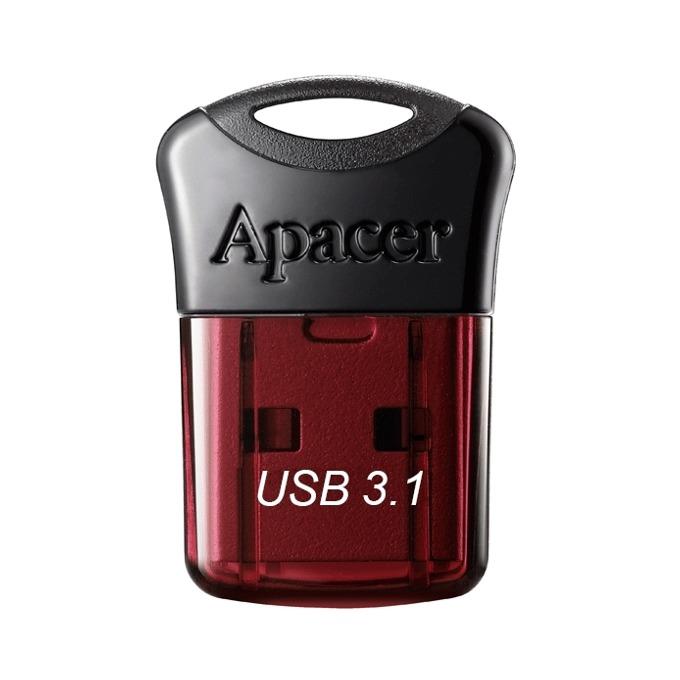 16GB USB Flash Drive, Apacer Super-mini AH157, USB 3.1, червен image