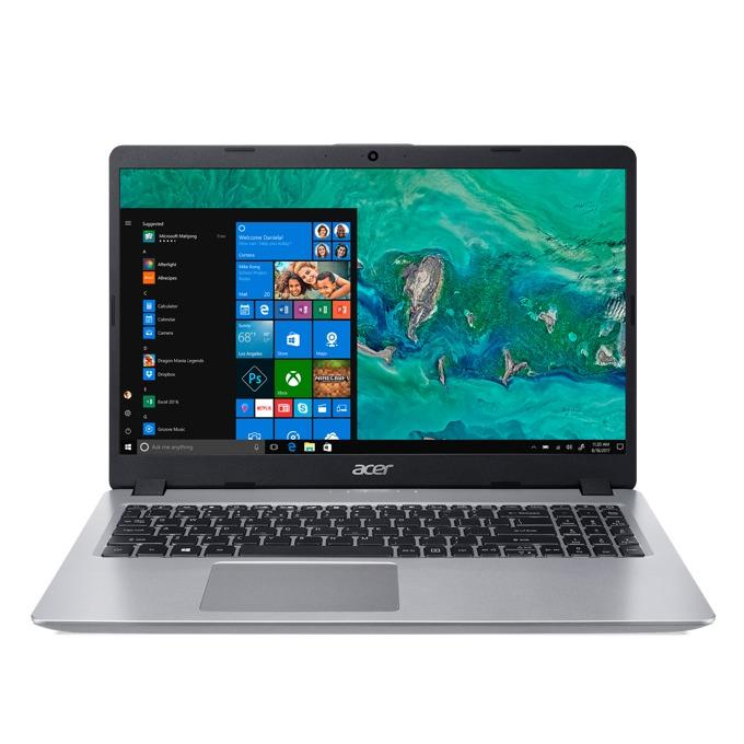 """Лаптоп Acer Aspire 5 NC-A515-52G-57W3 (NX.H5PEX.004)(сребрист), четириядрен Whiskey Lake Intel Core i5-8265U 1.60/3.90 GHz, 15.6""""(39.62 cm) Full HD IPS дисплей & GF MX150 2GB (HDMI), 8GB DDR4, 1TB HDD, 1x USB-C, Linux, 1.9kg image"""