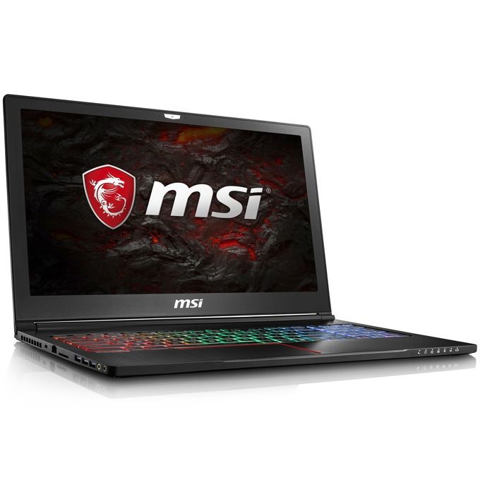 "Лаптоп MSI GS63VR 7RF Stealth Pro (9S7-16K212-687), четириядрен Kaby Lake Intel Core i7-7700HQ 2.80/3.80GHz, 15.6""(39.62cm) Full HD 120HZ/3MS Display, GeForce GTX 1060 6GB (HDMI), 16GB DDR4, 256GB SSD, 1TB HDD, 1x USB3.1 (Type-C),Free Dos, 1.9kg image"