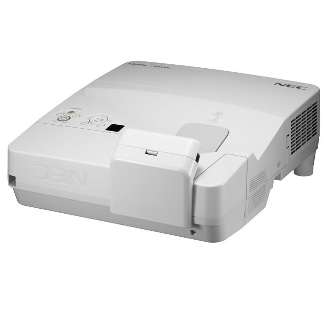 Проектор NEC UM351Wi-MT, LCD, WXGA (1280x800), 6000:1, 3500 lm, VGA, HDMI, RS232, RCA, USB, бял image