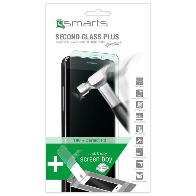 Протектор от закалено стъкло /Tempered Glass/. 4smarts за Huawei P8 lite, в комплект с уред за поставяне image