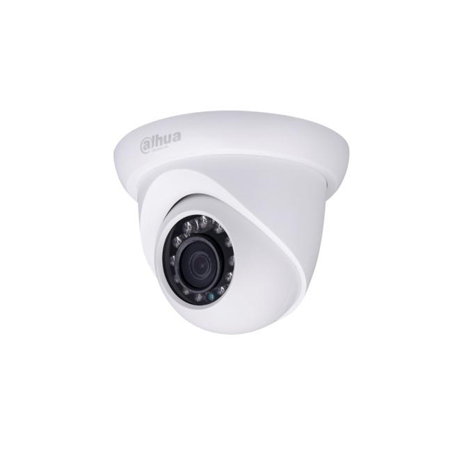 IP камера Dahua IPC-HDW1220SP-0360B-S3, куполна, 2 Mpix(1920x1080@25FPS), 3.6mm обектив, H.264/H.264H/H.264B/MJPEG, IR осветеност (до 30 метра), външна IP67, PoE, 1x 10/100Base-T Ethernet port image
