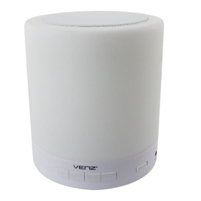 Тонколона Venz A5-W, 5W, Bluetooth / Wi-Fi, USB, AUX, бял, 3 нива на LED осветление image