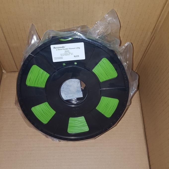 Консуматив за 3D принтер Acccreate, Flexible, 1.75mm, зелен, 1kg image
