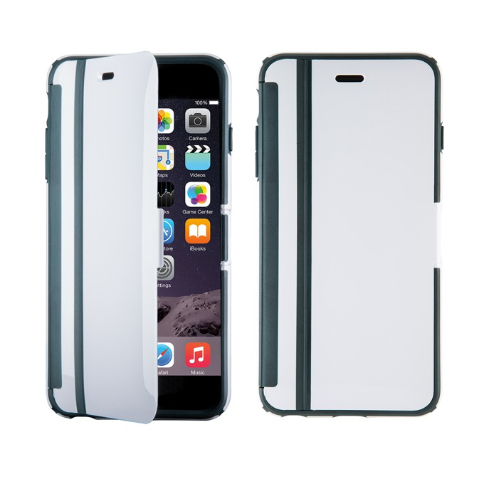 Страничен протектор с гръб Speck за iPhone 6S, с капаче, бял image
