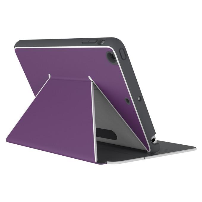 """Калъф тип """"бележник"""" Speck DuraFolio за iPad Mini 4, Лилав/Бял image"""