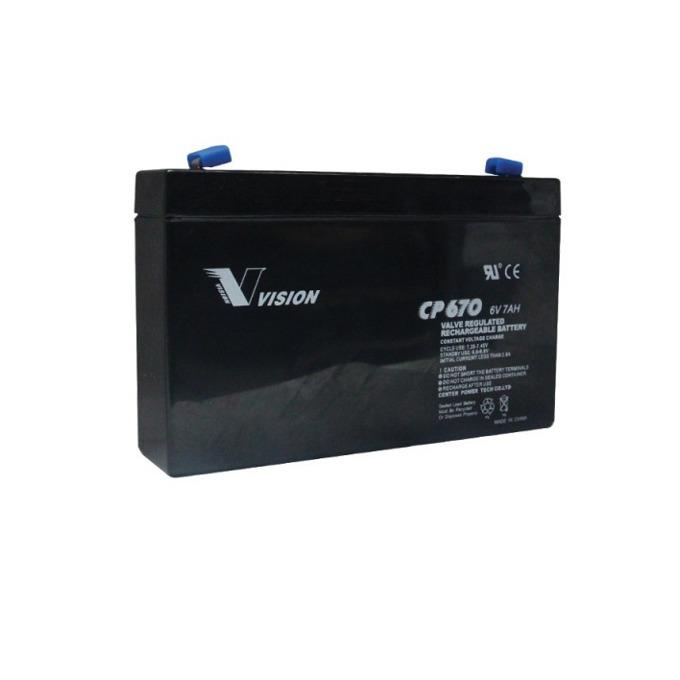 Акумулаторна батерия Vision CP670F1, 6V, 7 Ah, VRLA image