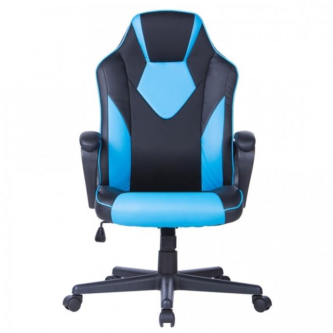 Геймърски стол Storm, еко кожа, максимален комфорт, ергономичен дизайн, черен/син image