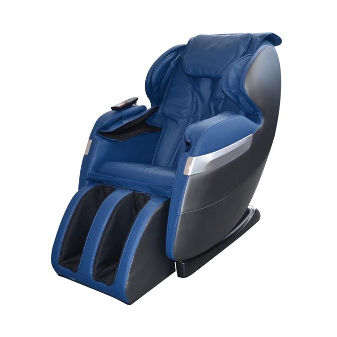 Масажен стол Rexton GJ-5101, еко кожа, ролков механизъм, многофункционално дистанционно управление с дисплей, колела, крачна секция, син image
