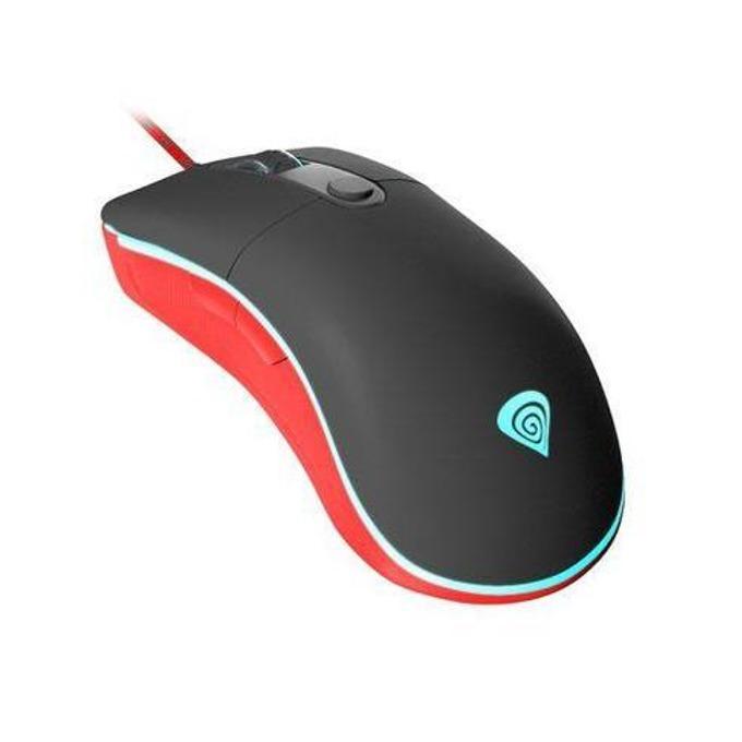 Мишка Natec Genesis NMG-0875, оптична (7200 dpi), гейминг, подсветка, черна, USB image