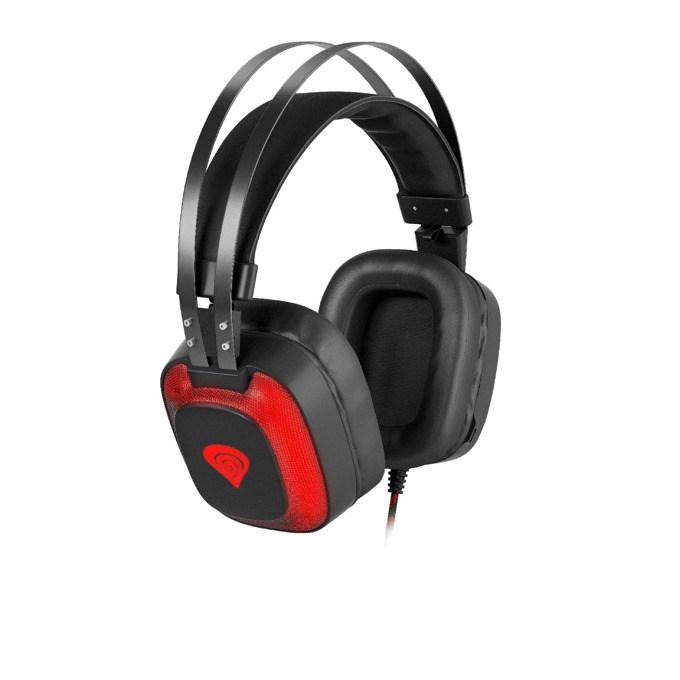 Слушалки Genesis RADON 720 VIRTUAL 7.1, USB, микрофон, геймърски, подсветка, черни/червени image