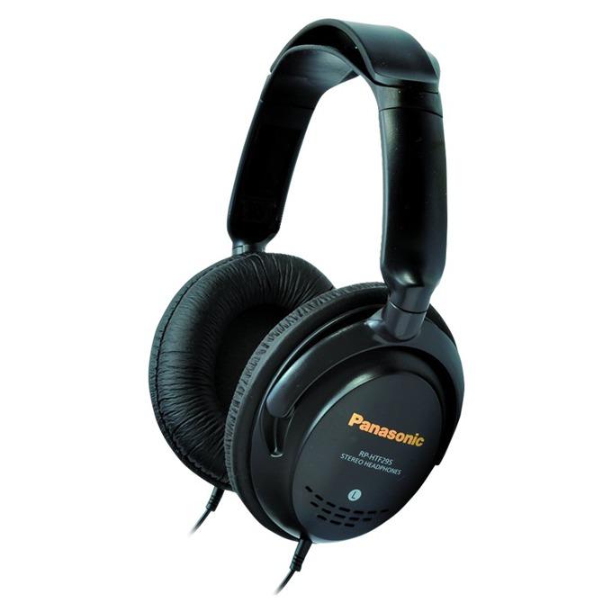 Слушалки Panasonic RP-HTF295E, 10 - 27 000 Hz, позлатен жак, 5м, кабел, за телевизия, черни  image