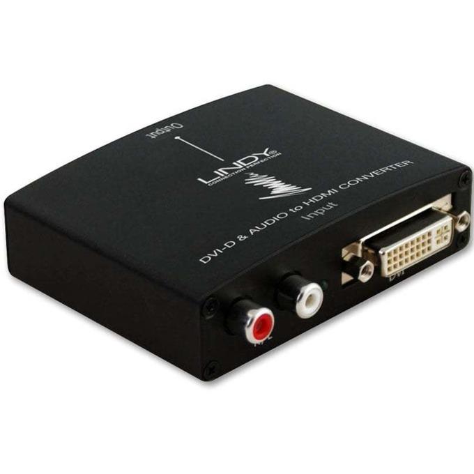 Конвертор Lindy LNY-38164, от DVI(ж) и RCA(ж) към HDMI(ж), черен image